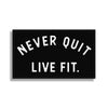 "Never Quit PVC Patch - 2"" x 3"""