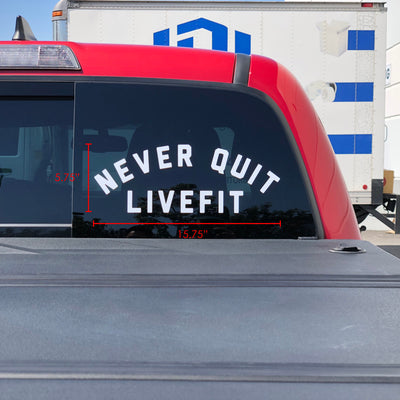 Live Fit Apparel Stickers - Never Give Up