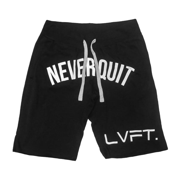 Never Quit Sweat shorts-Black