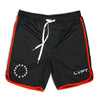 Live Fit Apparel All Star Active Shorts - Black/Red - LVFT