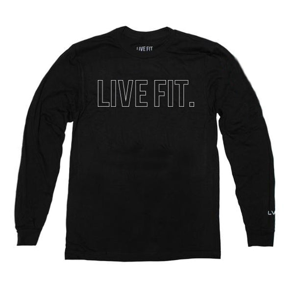 Outline Long Sleeve- Black
