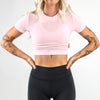 Athleisure Crop Tee- Bubblegum