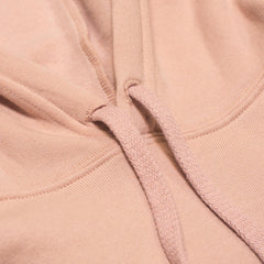 Throwback Crop Hoodie- Peach