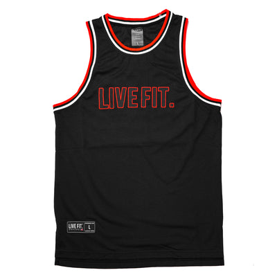 Pregame Jersey - Black / Red