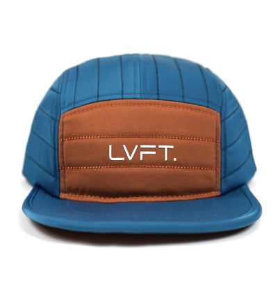 5 Panel Camper Cap - Blue / Copper