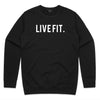 Premium Live Fit Crewneck - Black