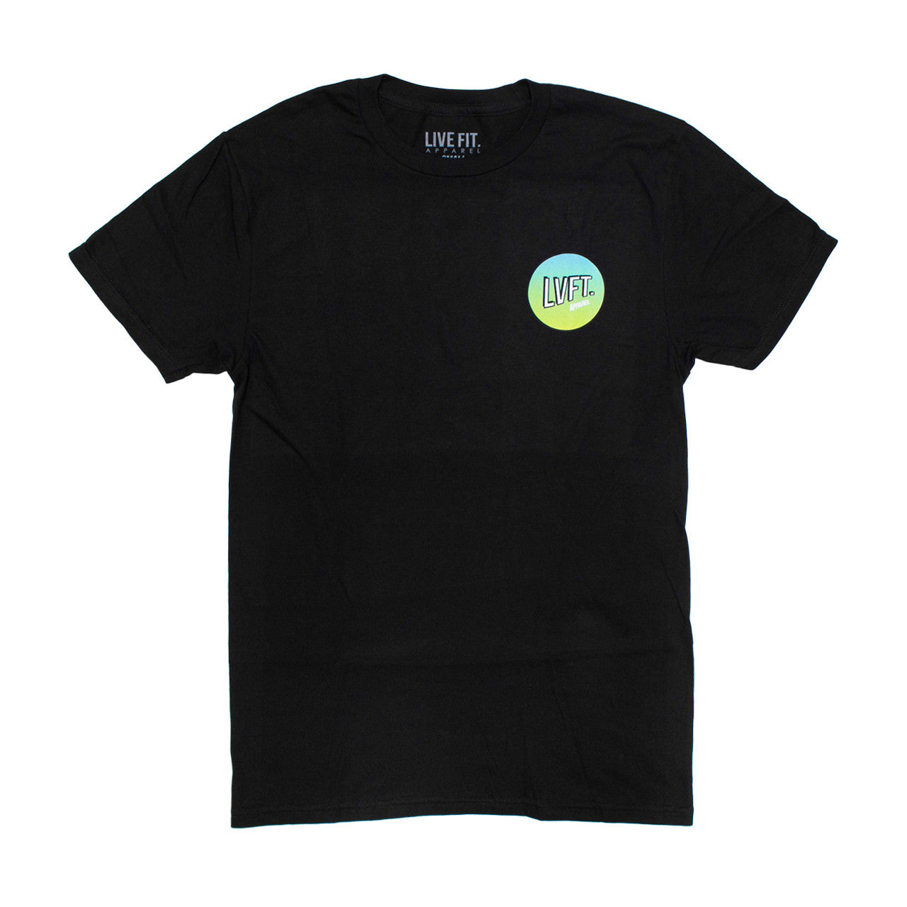 Retro Tee- Black/Blue-Green