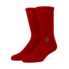 Stamped Socks - Red / Black
