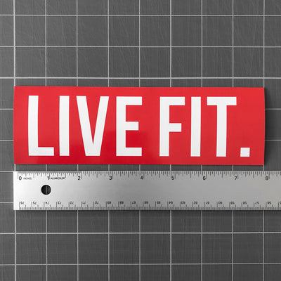 "Live Fit Apparel Live Fit. 8""  Sticker - Red - LVFT"