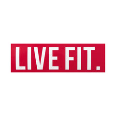"Live Fit. 8""  Sticker - Red"