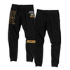 Live Fit Apparel Outline Stacked Joggers - Gold/Black - LVFT