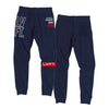 Live Fit Apparel Outline Stacked Joggers - Navy / Red - LVFT