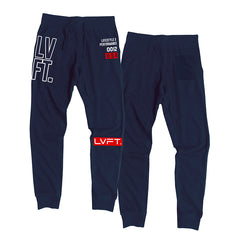 Outline Stacked Joggers - Navy / Red