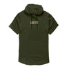 Live Fit Short Sleeve Hoodie - Olive