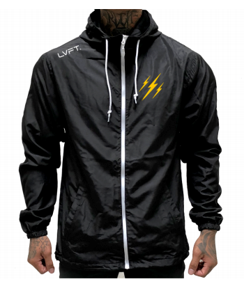 Live Fit Apparel Never Quit Windbreaker - Black