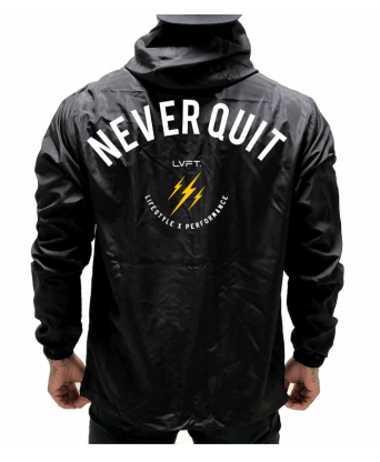 Live Fit Apparel Never Quit Windbreaker - Black - LVFT