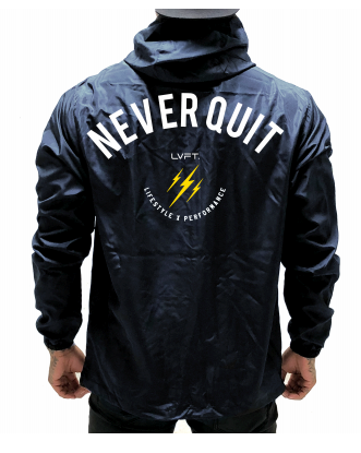 Live Fit Apparel Never Quit Windbreaker - Navy - LVFT