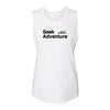 Seek Adventure Muscle Tank - White