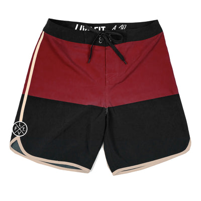 Signature Pro Boardshorts - Black / Maroon