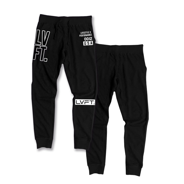 Stacked Joggers -White
