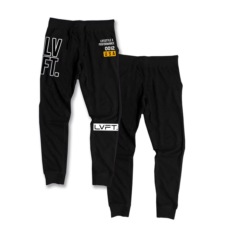 Stacked Joggers - Gold
