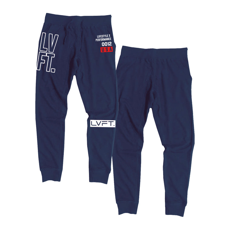 Stacked Joggers - Navy