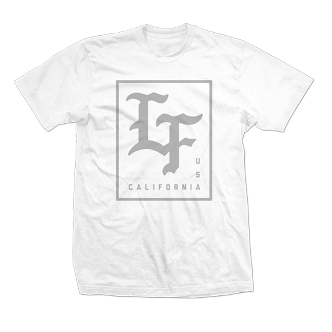 Stamped Tee- White/Grey