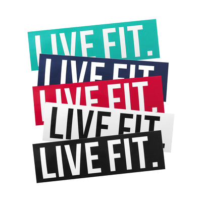 "Live Fit Apparel Live Fit. 8""  Sticker Pack - LVFT"