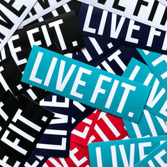 "Live Fit. 8""  Sticker Pack"