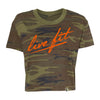 Strike Crop Tee - Green Camo