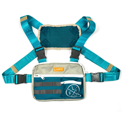 Tactical Chest Rig - Grey / Teal / Tan