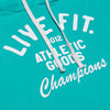 Live Fit Apparel Champions Crop Hoodie - Teal - LVFT