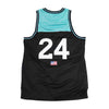 Live Fit Apparel Baseline Jersey - Black / Teal - LVFT