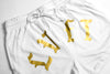 Varsity Mesh Kick Boxing Shorts - White / Gold