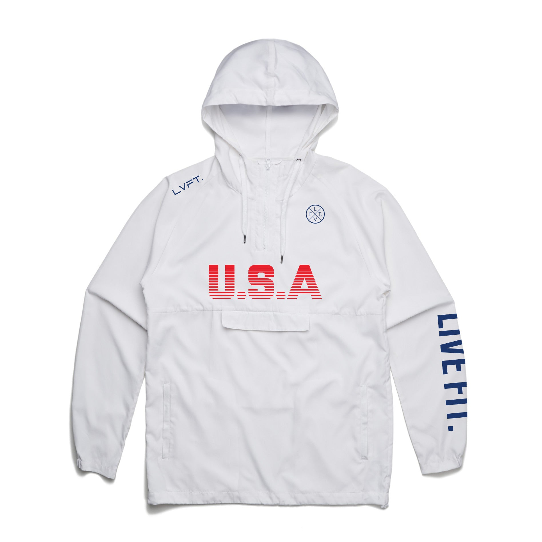 USA Anorak Jacket- White
