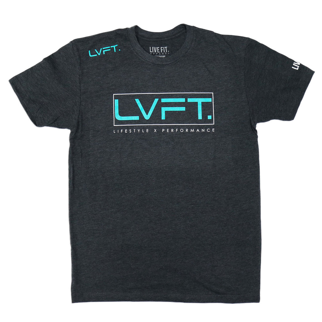 LVFT Lifestyle Tee - Grey/Turquoise