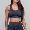 Vintage Wash Sports Bra- Indigo
