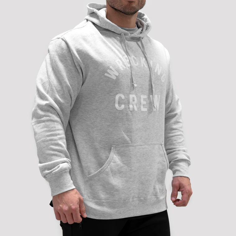 Wrecking Crew Hoodie - Heather Grey