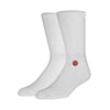 Stamped Socks - White / Red