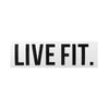 "Live Fit Apparel Live Fit. 8"" Sticker - White - LVFT"