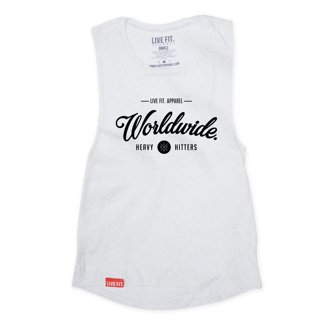 Worldwide Hitters Cutoff Muscle Tank- White