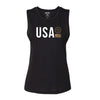 Live Fit Apparel Ally Muscle Tank - Black / Gold - LVFT