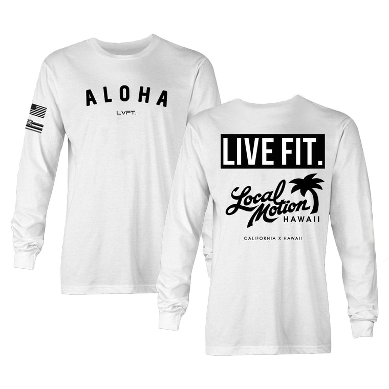 Aloha Long Sleeve - White