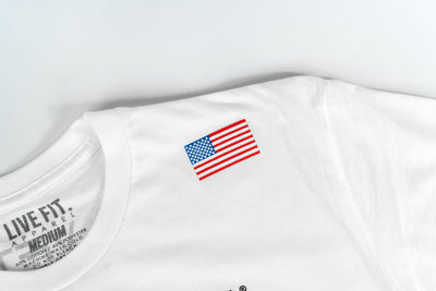 Live Fit Apparel Champions Tee - White - LVFT