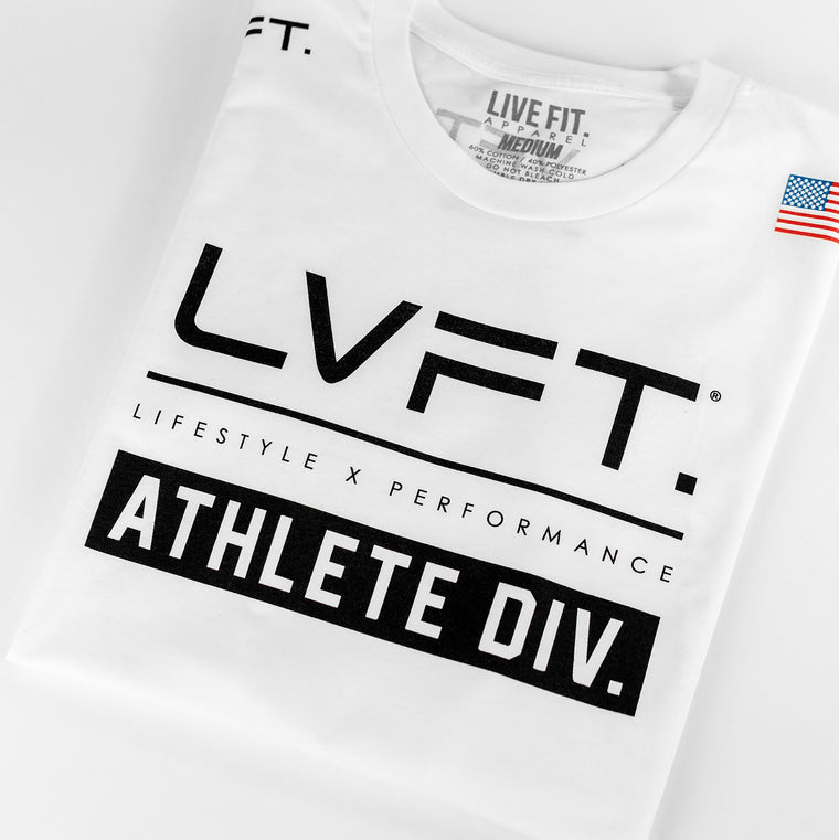 Live Fit Apparel Athlete Division Tee - White - LVFT