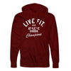 Live Fit Apparel Athletic Goods Hoodie - Burgundy - LVFT