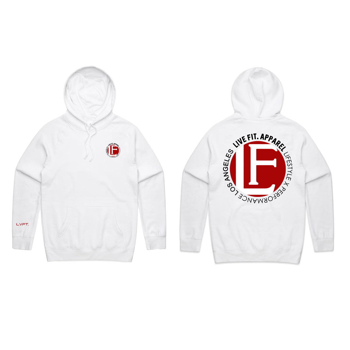 Live Fit Apparel BACK YARD HOODIE - WHITE - LVFT
