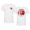 Live Fit Apparel BACK YARD TEE - WHITE - LVFT