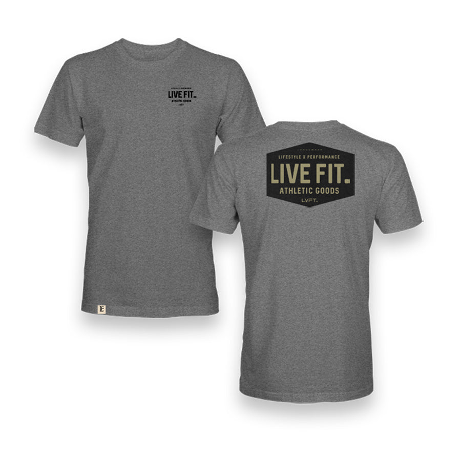 Work Badge Tee - Heather Grey