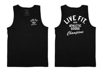 Live Fit Apparel Athletic Goods Tank - Black - LVFT